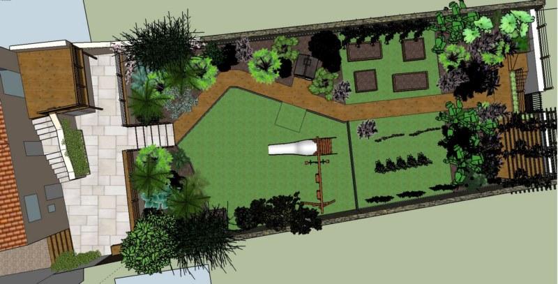 CONCEPTION D'UN JARDIN EN PENTE . inspirations jardins
